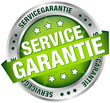 "Button Banner ""Servicegarantie"" grün/silber"