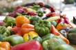Fresh garden vegetables at a farmer's market