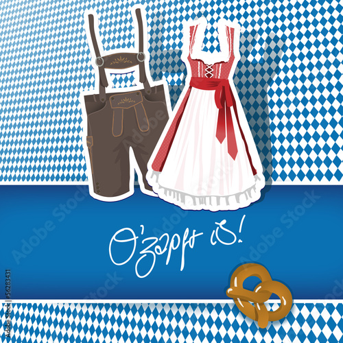 Oktoberfest O'zapft is! - Karte Card