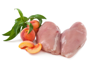 Hühnerbrust mit Pfirsich