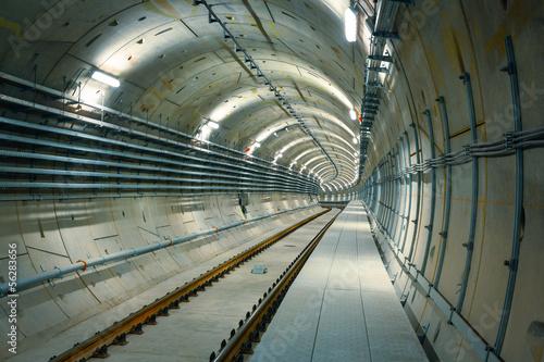 underground metro line on construction - 56283656