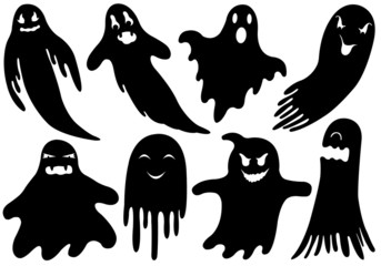 Set Of Different Ghosts isolated