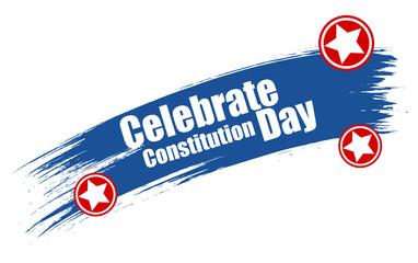 grunge stroke banner - Constitution Day Vector Illustration