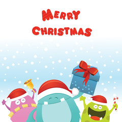 Christmas Monsters Card