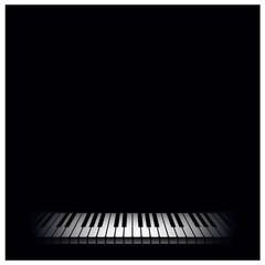 Piano background. Vector illustration.