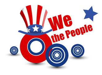 We the people vector design