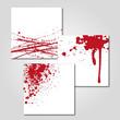 Splatter Blut Vektor Set