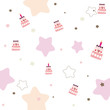Birthday Cake Seamless Vector Pattern