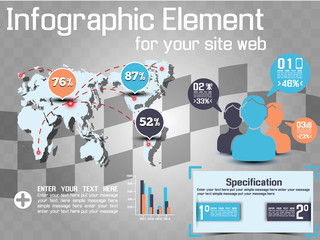 INFOGRAPHIC MODERN STYLE WEB ELEMENT 2