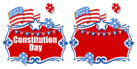 Celebration background banner - Constitution Day Illustration