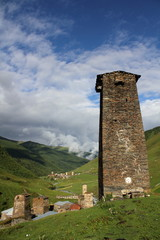 Towers in Ushguli, Upper Svaneti, Georgia