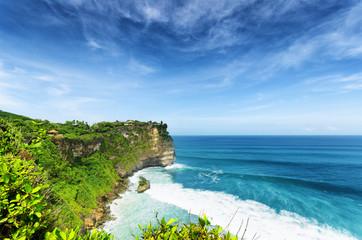 Coast at Uluwatu temple, Bali, Indonesia