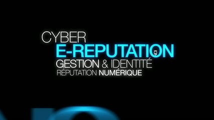 E-reputation cyber idéntité réputation nuage de mots animation