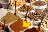 Indian spices at flea market in India
