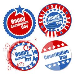 Circular designs for - Constitution Day Vector Illustration