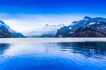 Winter landscape. winter mountains landscape. Beautiful winter.