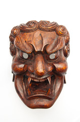 Japanese demon mask carving