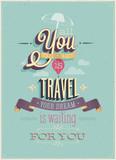 Vintage Travel Poster. Vector illustration. poster