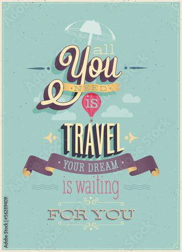 Vintage Travel Poster. Vector illustration.