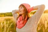 Fototapety relaxing female outdoor