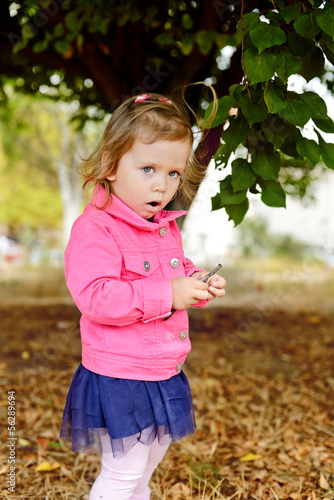 fashion toddler outdoors