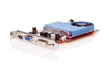 PCI video card with HDMI, VGA and DVI connectors