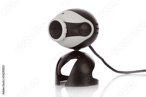 Video Webcam isolated on a white background