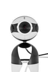 Video Webcam isolated on a white background.