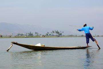 Fishermen on Inle Lake in Myanmar (burma)