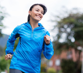 Woman running outdoors