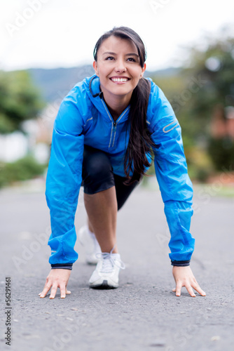 Woman set for running