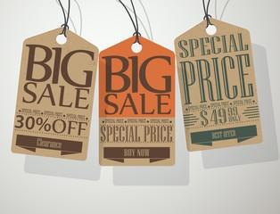 Vintage Style Sale Tags
