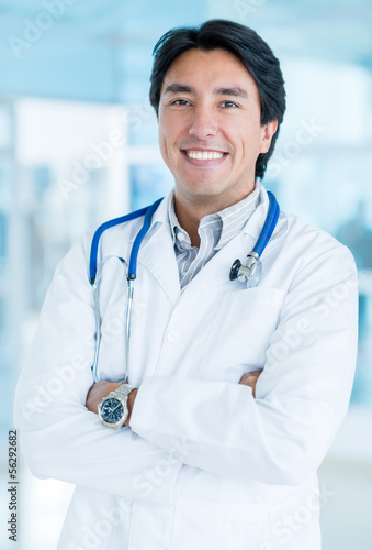 Friendly male doctor