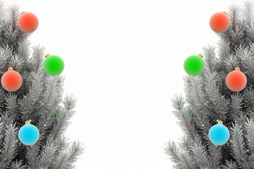 Christmas tree. 3d render image