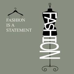 fashion is a statement