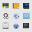 electronics and networking vector icon set