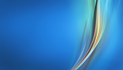 Awesome gentle wave on blue background