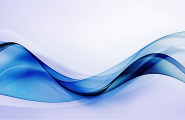 Beautiful deep blue wave