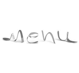 Cutlery menú, logo