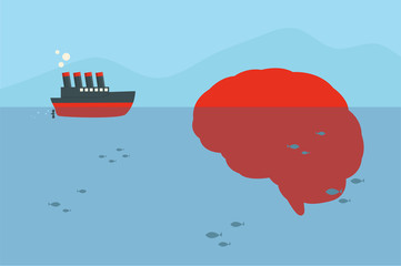 ship and brain iceberg