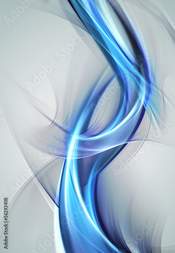 Abstract glowing blue waves