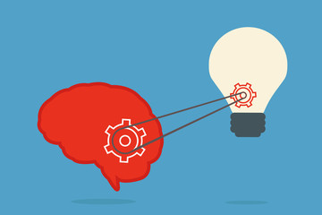 brain and bulb idea