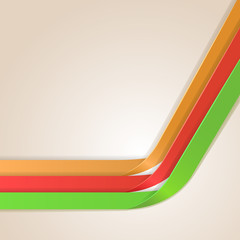Color bent stripes design vector template.