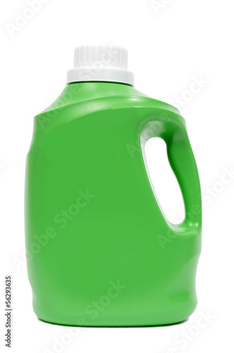 Green Laundry Detergent Bottle With Copy Space