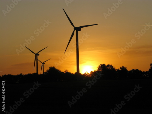 Windpark Apensen morgens
