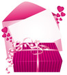 Pink gift with message card.