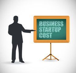 business start up cost presentation concept