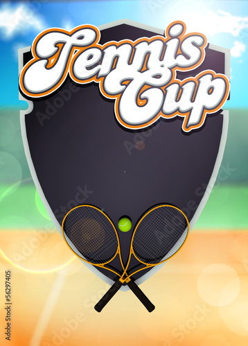 Tennis sport cup background