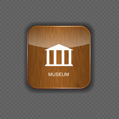 Museum application icons vector illustration