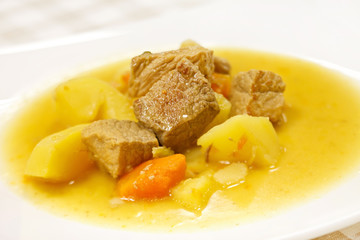 stew with tender lamb meat